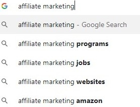 Google search of affiliate marketing.